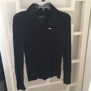 Ralph Lauren Cowl Neck Sweater w/Gold Clasp - P/S